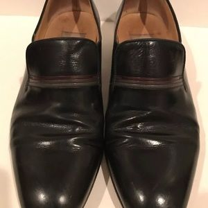 Baldan Shoes - 70s Black Leather Slip-Ons Loafers 8 41 Alta Moda